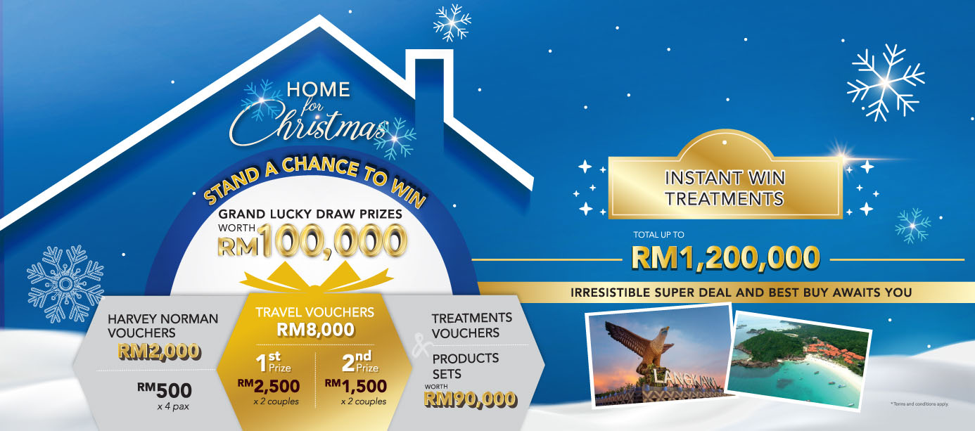 Instant Win Treatments for a total up to RM1,200,000